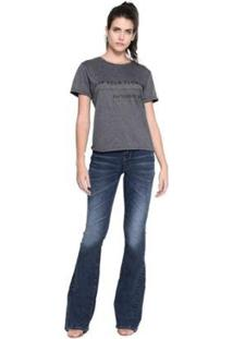 Camiseta M.Officer Basic Feminina - Feminino-Cinza