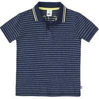 Camisa Polo Infantil Menino Em Malha De Fio Tinto Com Detalhe Em Retilínea  Puc    16ae290300df0