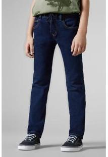 Calça Infantil Jeans Elastano Reserva Mini Masculina - Masculino-Azul Escuro