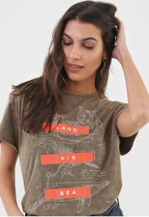 Camiseta Forum Estampada Marrom - Kanui