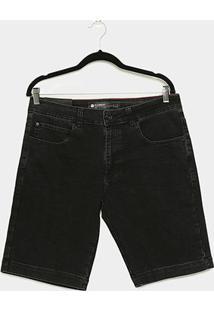Bermuda Jeans Element Well Grey Masculina - Masculino-Preto