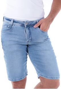 Bermuda 709 Jeans Slim Traymon Azul Claro