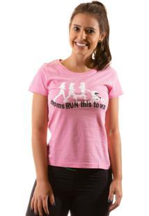 Camiseta Irun Baby Look Algodão Rosa
