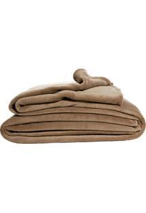 Cobertor Solteiro Blanket Flannel Gold Marrom