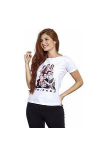 Camiseta Sideway Friends Personagens - Branca