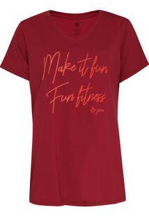 Camiseta Alto Giro Make It Fun Vinho