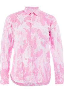 Comme Des Garçons Homme Plus Camisa Com Estampa Marmorizada - Rosa