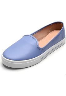 Slipper Moleca Liso Azul