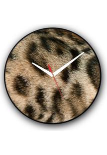 Relógio De Parede Colours Creative Photo Decor Felino