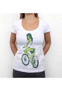 Melancia De Bike - Camiseta Clássica Feminina