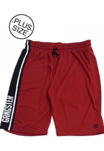 Bermuda Gangster Plus Size Basquete Vermelha