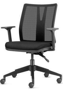 Cadeira Addit Assento Crepe Preto Com Base Piramidal Em Nylon - 54103 Sun House
