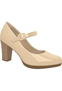 Sapato Envernizado- Bege Claro- Salto: 7Cmpiccadilly