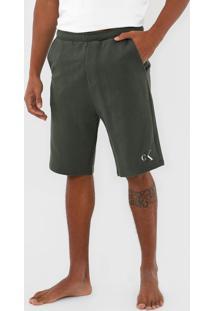 Bermuda Calvin Klein Underwear Reta Logo Verde - Verde - Masculino - Algodã£O - Dafiti
