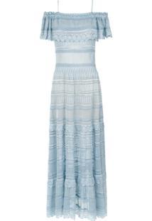 Cecilia Prado Vestido De Tricô Viviane - Azul