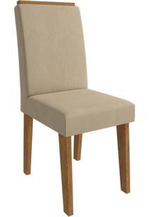 Cadeira Milena Com Moldura Caramelo Savana