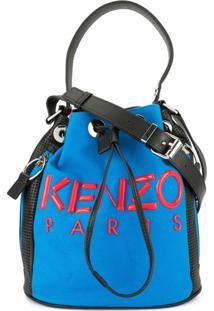 Kenzo Bolsa Tiracolo Com Cordão De Fechamento - Vermelho