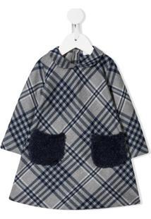 Il Gufo Vestido Xadrez - Cinza