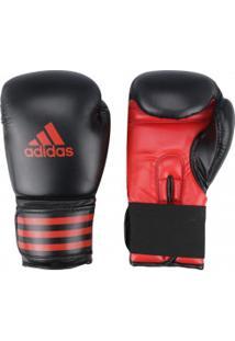 Luvas De Boxe Adidas Power 100 14 Oz - Adulto - Preto/Vermelho