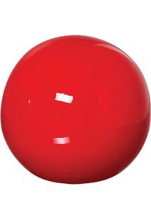Esfera Danna De Cerâmica 10Cm Vermelha Mazzotti
