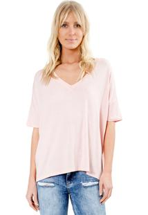 Blusa Manga Curta Lucy In The Sky Decote V Nude