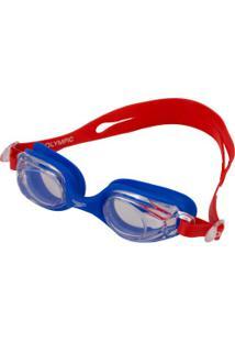 Óculos De Natação Speedo Olimpic - Infantil - Azul/Vermelho