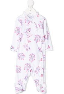 Monnalisa Pijama Com Animal Print - Branco