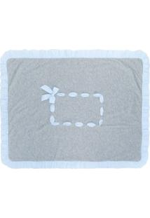 Siola Cobertor Com Babado Na Barra - Cinza