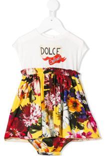 Dolce & Gabbana Kids Vestido Com Estampa Floral - Branco