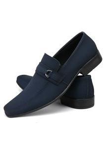 Sapato Social Masculino Rebento Azul Marinho
