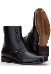 Bota Capelli Boots Cano Médio Com Zíper Lateral Masculina - Masculino