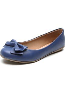 Sapatilha Bellysharm Laço Azul-Marinho