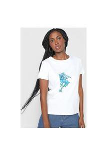 Camiseta Polo Wear Floral Preta