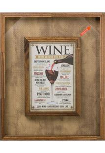 Quadro Porta-Rolhas Wine Madeira