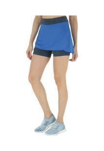 Short Saia Adidas M - Feminino - Azul/Preto