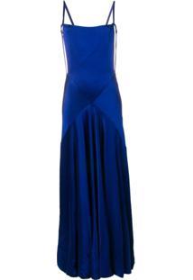 Maison Margiela Vestido Longo De Festa - Azul