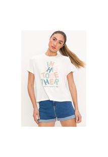 T-Shirt Alongada Lança Perfume T-Shirt Branco