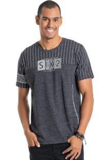 838ed97dd Camiseta Sarja Textura masculina