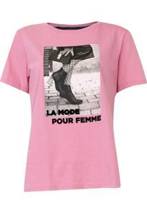 Camiseta Sommer Foto Rosa - Kanui