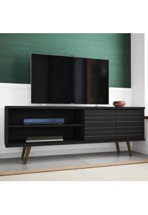 Rack Para Tv 2 Portas Onix Preto Fosco - Móveis Bechara