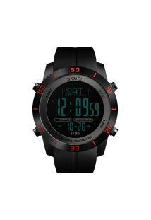 Relógio Skmei Digital -1354- Preto E Vermelho
