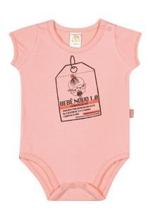 Body Salmão Bebê Menina Cotton - Feminino