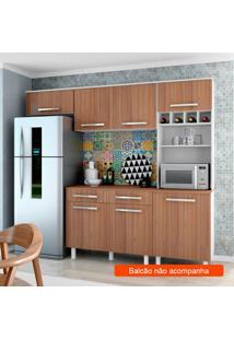 Cozinha Compacta Lorena 5 Pt Branco E Montana