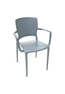 Cadeira Safira Com Braço Grafite 92049007 Tramontina