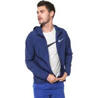 ea6b4892ac Jaqueta Corta Vento Nike M Nk Essntl Jkt Hd Azul-Marinho