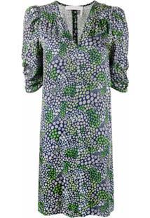 See By Chloé Vestido Com Estampa Floral - Azul