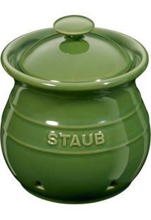 Porta Alho Cerâmica Verde Basil Staub