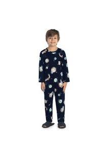 Pijama Infantil Rovitex Espaço Azul Marinho