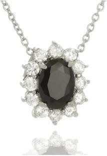 Colar Le Diamond Pedras Micro Zircônia Preto - Kanui