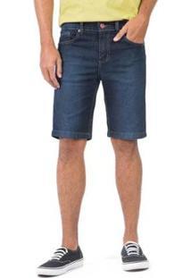 Bermuda Jeans Tinturada Stone Masculino - Masculino-Azul